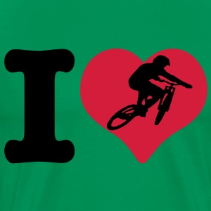 I Love Downhill T-Shirt - Men's Premium T-Shirt