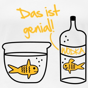 Goldfisch Wodka Design T-Shirts - Frauen Premium T-Shirt