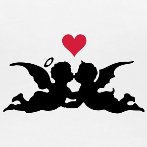 good and evil love heart T-Shirts - Frauen Premium T-Shirt