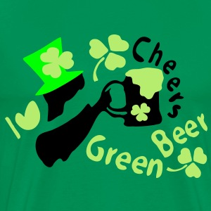 I heart green beer Irish boy shamrock st.patrick's day Men's Classic T-Shirt - Men's Premium T-Shirt