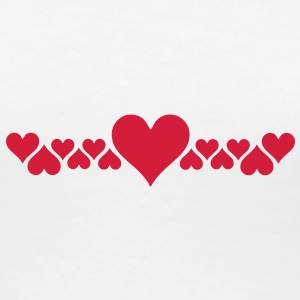 love heart T-Shirts - Frauen Premium T-Shirt