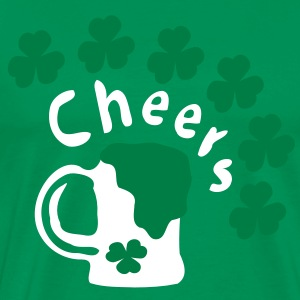 Cheers green beer  shamrock st.patrick's day Men's Classic T-Shirt - Men's Premium T-Shirt