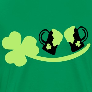 Cheers green beer  shamrock st. patrick's day Men's Classic T-Shirt - Men's Premium T-Shirt