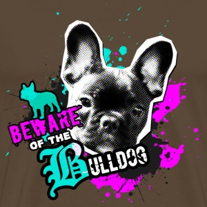 Bully, Fransk Bulldog - Attention fare T-shirts - Herre premium T-shirt