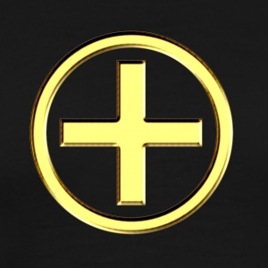 POSITIVE! Energy Symbol, gold, digital, symbol, symbols, powerful, force, sign, icon T-shirts - Herre premium T-shirt