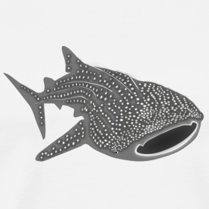 whale shark fish dive diver diving endangered species T-Shirts - Men's Premium T-Shirt