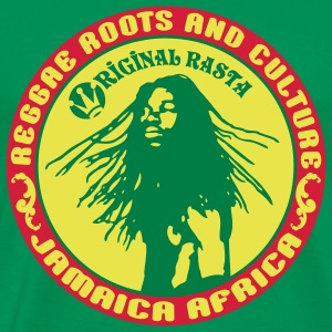 reggae roots and_culture jamaica africa T-shirts - Mannen Premium T-shirt