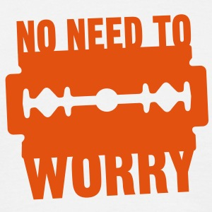 No need to worry solo T-shirts - Mannen T-shirt