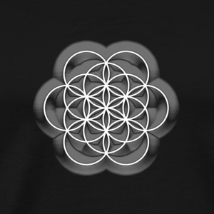 Feel the Harmony! EGG OF LIFE, digital, white, sacred geometry, energy, symbol, powerful, icon, T-Shirts - Männer Premium T-Shirt