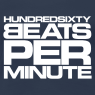 Motiv ~ 160 BPM - hundredsixty beats per minute (white)
