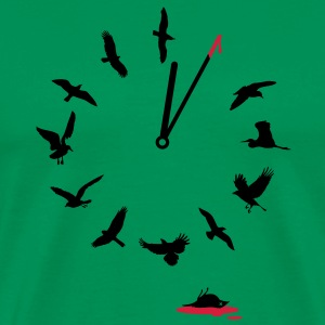 Doomsday Bird Clock T-Shirts - Men's Premium T-Shirt