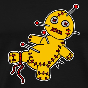 Digital - Voodoo Puppe Doll Funny Game Hawaii Tattoo Horror Psychopath T-shirts - Herre premium T-shirt