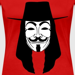 GUY FAWKES MASKE Anonymous ACTA Vendetta occupy T- - Frauen Premium T-Shirt