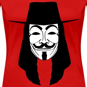 guy fawkes mask T-Shirts - Women's Premium T-Shirt