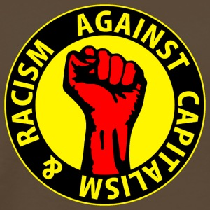 Digital - against capitalism & racism - against capitalism working class war revolution T-shirt - Maglietta Premium da uomo