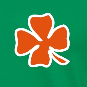 Irish Leaf two coloured T-paidat - Miesten premium t-paita
