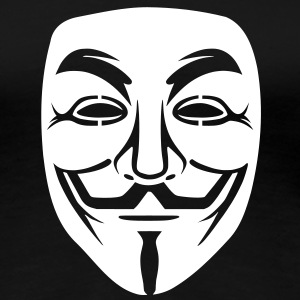 Anonymous/Guy Fawkes mask 1 clr T-Shirts - Women's Premium T-Shirt