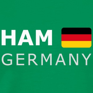 Classic T-Shirt HAM GERMANY GF white-lettered - T-shirt Premium Homme
