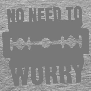 No need to worry solo T-shirts - Herre premium T-shirt