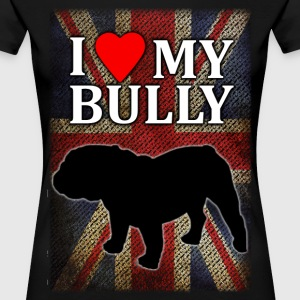I love my English Bully mit Flagge T-Shirts - Frauen Premium T-Shirt