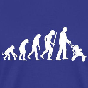 Evolution of the the (grand)fatherhood T-Shirts - Men's Premium T-Shirt