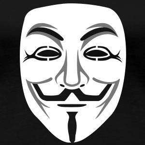 Anonymous/Guy Fawkes maske 2clr T-Shirts - Frauen Premium T-Shirt
