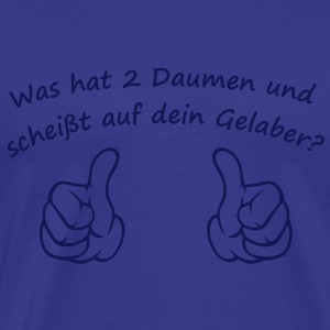 What has two thumbs and doesnt give a crap  T-shirt - Maglietta Premium da uomo