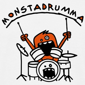 Monster Drummer T-shirts - Mannen T-shirt