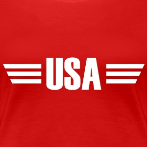 USA T-Shirt - Frauen Premium T-Shirt
