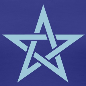 Star of the Magi - Pentagram - Sign of intellectual omnipotence and autocracy. Vector, Blazing Star, powerful symbol of protection Camisetas - Camiseta premium mujer
