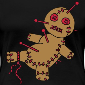 2 col - Voodoo Puppe Doll Funny Game Hawaii Tattoo Horror Psychopath T-Shirts - Women's Premium T-Shirt