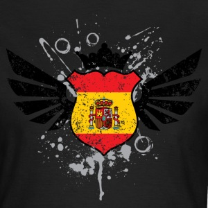 Spain soccer emblem flag T-shirt - Frauen T-Shirt