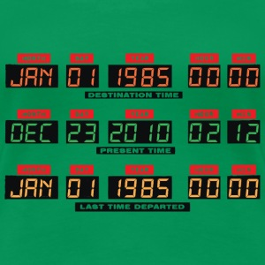 Back To The Future I Time Travel Date Console for Ladies - Women's Premium T-Shirt