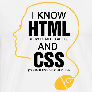 I Know Html 3 (2c)++ T-Shirts - Men's Premium T-Shirt