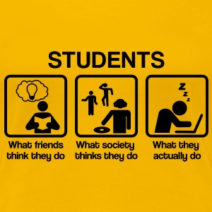 Students - What my friends think I do T-shirts - Premium-T-shirt dam