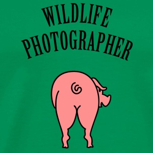 Wildlife Photographer (Text, 1c) T-Shirts - Men's Premium T-Shirt