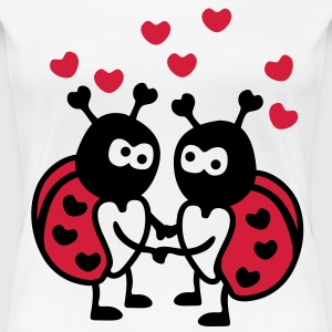 Ladybugs in Love T-Shirts - Frauen Premium T-Shirt