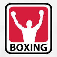 Motiv ~ Hvid Herre T-shirt med boxing logo