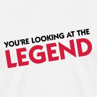 Motiv ~ Hvid Herre T-shirt med Legend logo