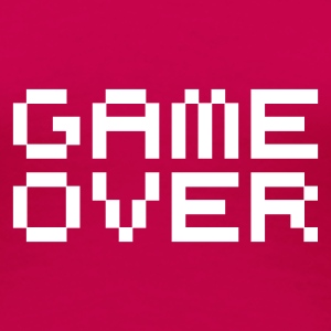 Game over / game over pixels T-shirts - Premium-T-shirt dam