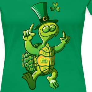Saint Patrick's Day Turtle T-Shirts - Women's Premium T-Shirt