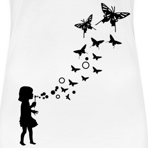 Bubble Schmetterling T-Shirts - Frauen Premium T-Shirt