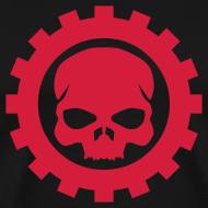 Motiv ~ Sort Herre T-shirt med rødt Skull logo