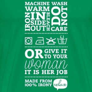 Typographic Satirical Laundry Tag T-Shirts - Men's Premium T-Shirt
