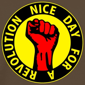 Digital - nice day for a revolution - against capitalism working class war revolution T-shirt - Maglietta Premium da uomo