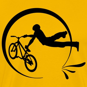 Yellow Bike Freestyle T-Shirts - Men's Premium T-Shirt