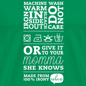 Laundry tag momma T-Shirts - Men's Premium T-Shirt