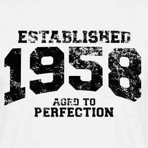 established 1958 - aged to perfection(uk) T-Shirts - Men's T-Shirt