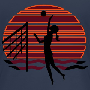 Beachvolley at Sunset - Frauen Premium T-Shirt