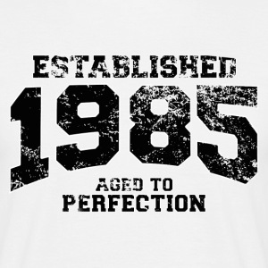 Geburtstag - established 1985 - aged to perfection - Männer T-Shirt
